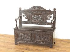 イギリスアンティーク家具 ベンチ