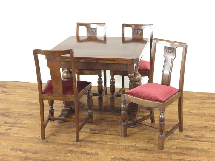 ドローリーフテーブル・チェア4脚セット 54928