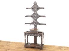 彫刻家具 アンティーク ホールスタンド