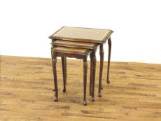 ガラストップネストテーブル アンティークフレックス