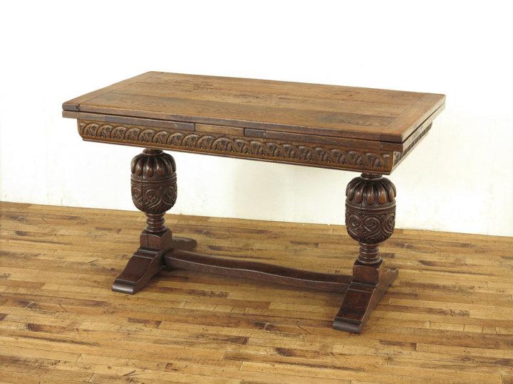 イギリス ブルボーズレッグドローリーフテーブル