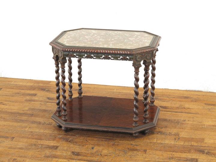 アンティーク家具 サイドテーブル ペイント