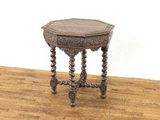 アンティーク家具 彫刻家具 サイドテーブル