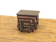 ウッドトップネストテーブル アンティークフレックス
