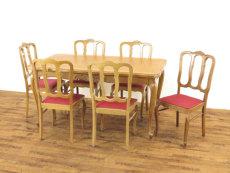 テーブルチェアセット アンティークフレックス