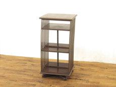 アンティーク家具 リボルビングブックケース